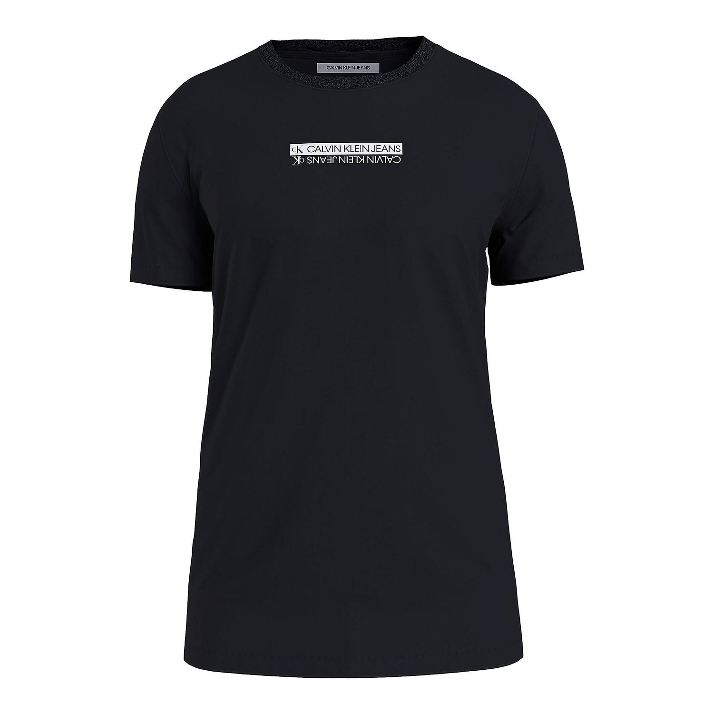 Calvin Klein Mirror Logo T-Shirt Zwart J30J317063-BEH main