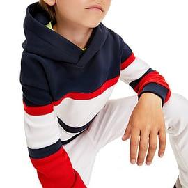 Tommy Hilfiger Colourblock Hoodie Blauw-Rood-Wit KS0KS00185-C87 model