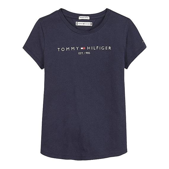 Tommy Hilfiger Essential T-Shirt Meiden Blauw KG0KG05242-C87 front main
