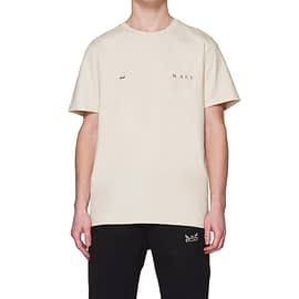 Mael Name Logo Crown T-Shirt Off-White model front