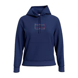 Tommy Outline Flag Hoodie Donkerblauw DW0DW08985-C87 main