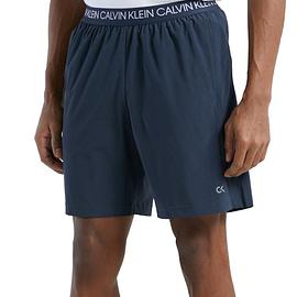 "Calvin Klein 7"" Logo Waist Woven Shorts Blauw 00GMF0S813-008 model front main"