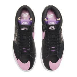 Nike SB Zoom Blazer Mid Edge Zwart-Roze DA2189-002 pair top view