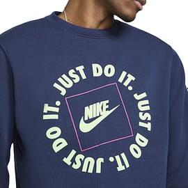 Nike JDI Fleece Sweater Blauw DA0157-410 close-up