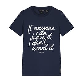 Nik&Nik Anyone T-Shirt Meiden Blauw front main