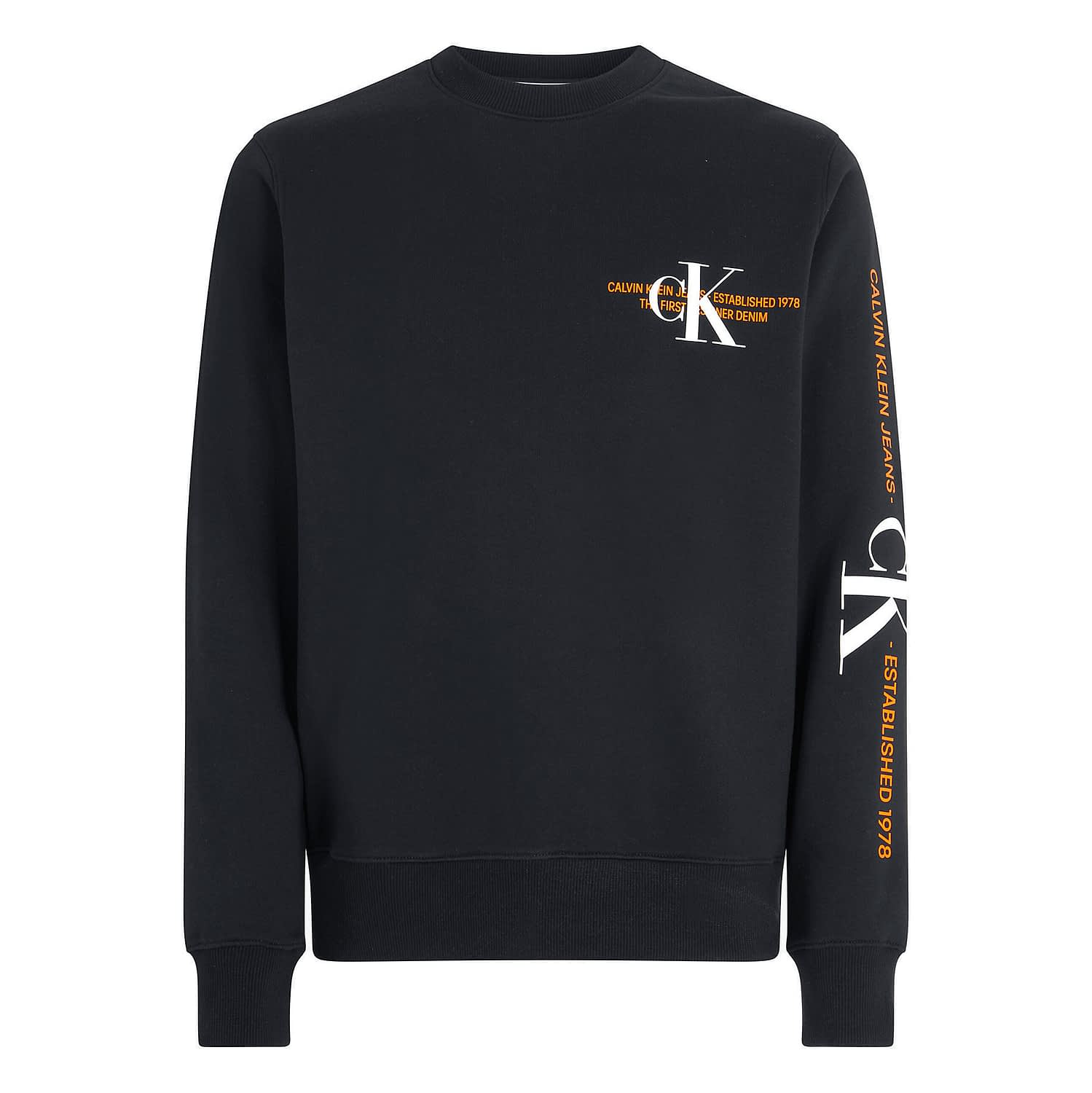 Calvin Klein CK Urban Graphic Logo Sweater Zwart J30J318307-BEH main