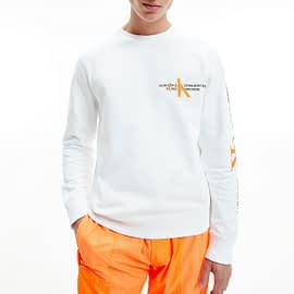 Calvin Klein CK Urban Graphic Logo Sweater Wit J30J318307-YAF model front