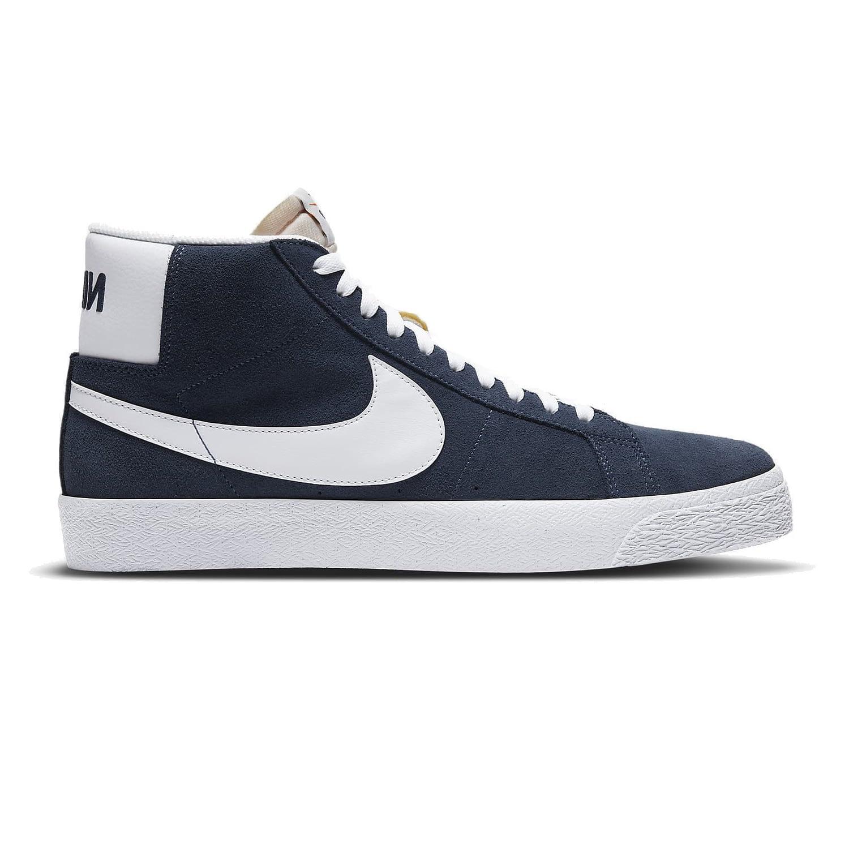 Nike SB Zoom Blazer Mid Blauw 864349-401 side main
