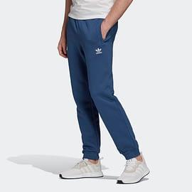 Adidas Trefoil Essentials Broek FM3787 Blauw side with model