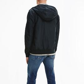 Calvin Klein Hooded Bomber Zwart J30J318137-BEH back