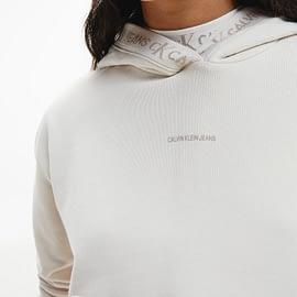 Calvin Klein Logo Trim Hoodie Zand J20J215464-PGA close-up