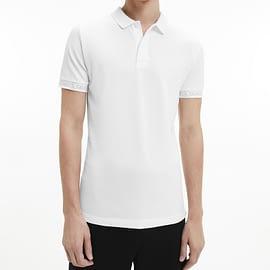 Calvin Klein Logo Jacquard Polo Wit J30J317283-YAF model