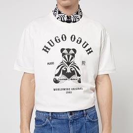 Hugo Boss Duto T-Shirt Wit model front