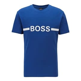 Hugo Boss T-Shirt RN Slim Fit Blauw 50437367-423 front main