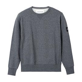 Calvin Klein Monogram Badge Grindlen Sweater BEH Zwart J30J316550 main