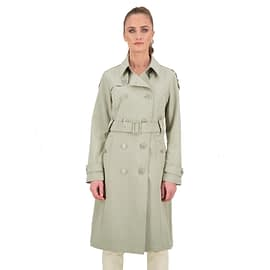 Airforce Trenchcoat Long Dames Silver Sage FRW0502-A 912 model front main