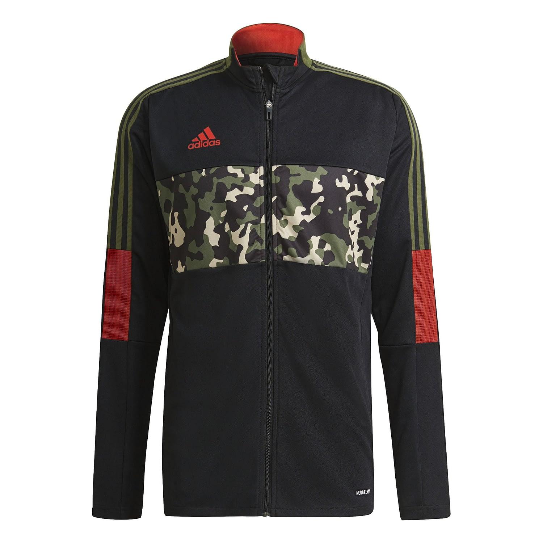 Adidas Tiro Trainingsjack Zwart-Camo GU8186 front main