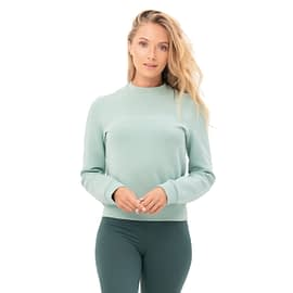 House of Gravity Cropped Signature Sweater Lichtgroen main