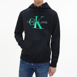 Calvin Klein Monogram Hoodie Zwart J30J314557-BEH model