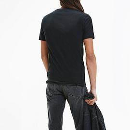 Calvin Klein Seasonal Monogram T-Shirt Zwart J30J317065-BEH back