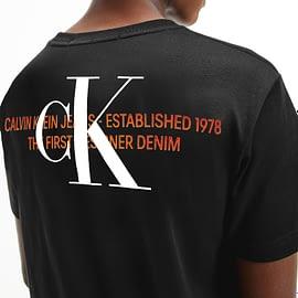 Calvin Klein CK Urban Graphic T-Shirt Zwart J30J318309-BEH back close-up