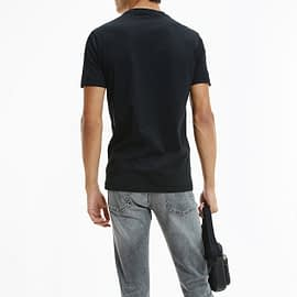 Calvin Klein Mirror Logo T-Shirt Zwart J30J317063-BEH back