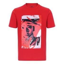 Hugo Boss Dangur T-Shirt Rood 50443207-693 front main