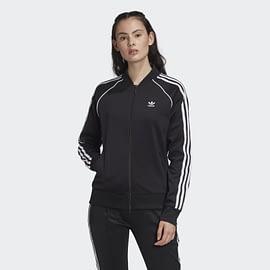 Adidas SST Trainingsjack FM3288 Zwart-Wit front with model
