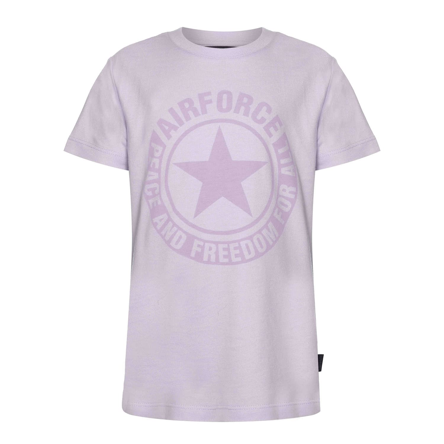 Airforce Logo T-Shirt Lavender TBB0730-y022 front main