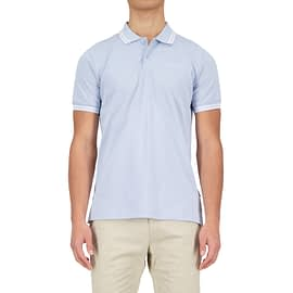 Airforce Double Stripe Polo Skyway Blue HRM0655-y00h-100 main