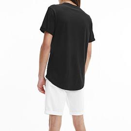 Calvin Klein Badge Turn Up Sleeve T-Shirt Zwart J30J315319-BAE back