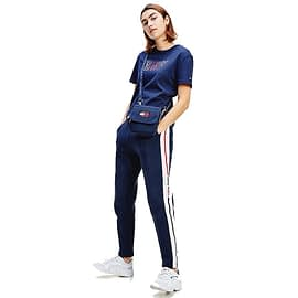 Tommy Jeans Cropped Outline Logo T-Shirt DW0DW08048-C87 Blauw model front
