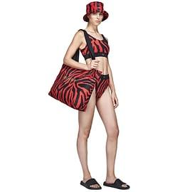 Goldbergh Kopal Shopper Rood model front