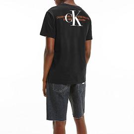 Calvin Klein CK Urban Graphic T-Shirt Zwart J30J318309-BEH model back