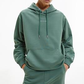 Calvin Klein Micro Branding Hoodie Groen J30J317388-LDT model front