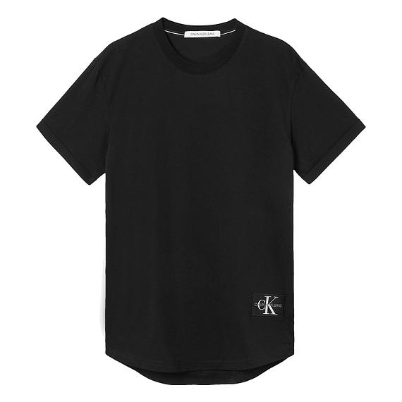 Calvin Klein Badge Turn Up Sleeve T-Shirt Zwart J30J315319-BAE main