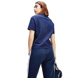 Tommy Jeans Cropped Outline Logo T-Shirt DW0DW08048-C87 Blauw model back