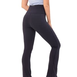 House of Gravity Flared Tights Deep Blue model back
