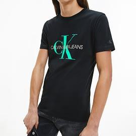 Calvin Klein Seasonal Monogram T-Shirt Zwart J30J317065-BEH model