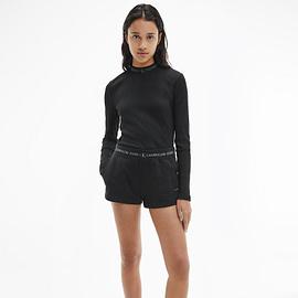 Calvin Klein Trim Knit Short Zwart J20J215561-BEH model front