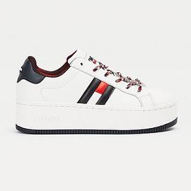 Tommy Hilfiger Iconic Flag Flatform Sneaker Wit EN0EN01108-0K4 main