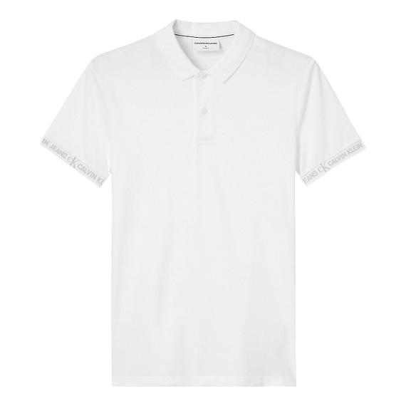 Calvin Klein Logo Jacquard Polo Wit J30J317283-YAF main