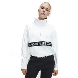 Calvin Klein 1/4 Pullover Sweatshirt Wit 00GWF0W366 main