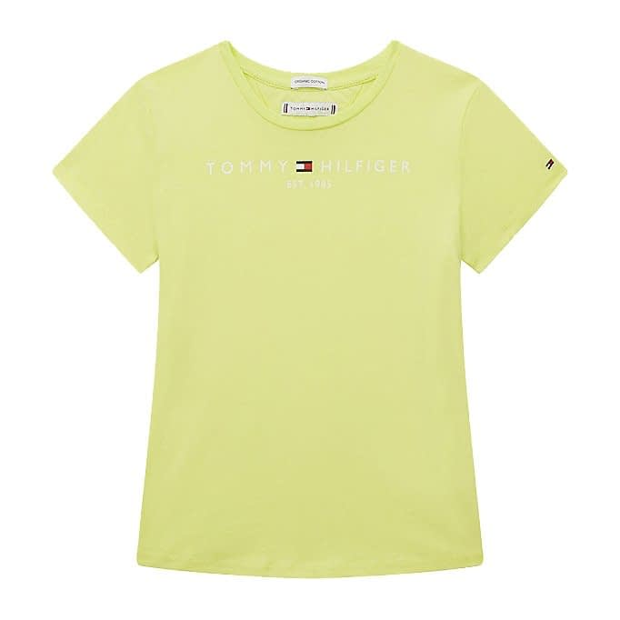 Tommy Hilfiger Essential T-Shirt Meiden Limoen KG0KG05242-LT3 front main
