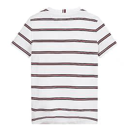 Tommy Hilfiger Essential Stripe T-Shirt Wit KB0KB06304-YBR back main