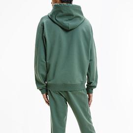 Calvin Klein Micro Branding Hoodie Groen J30J317388-LDT model back