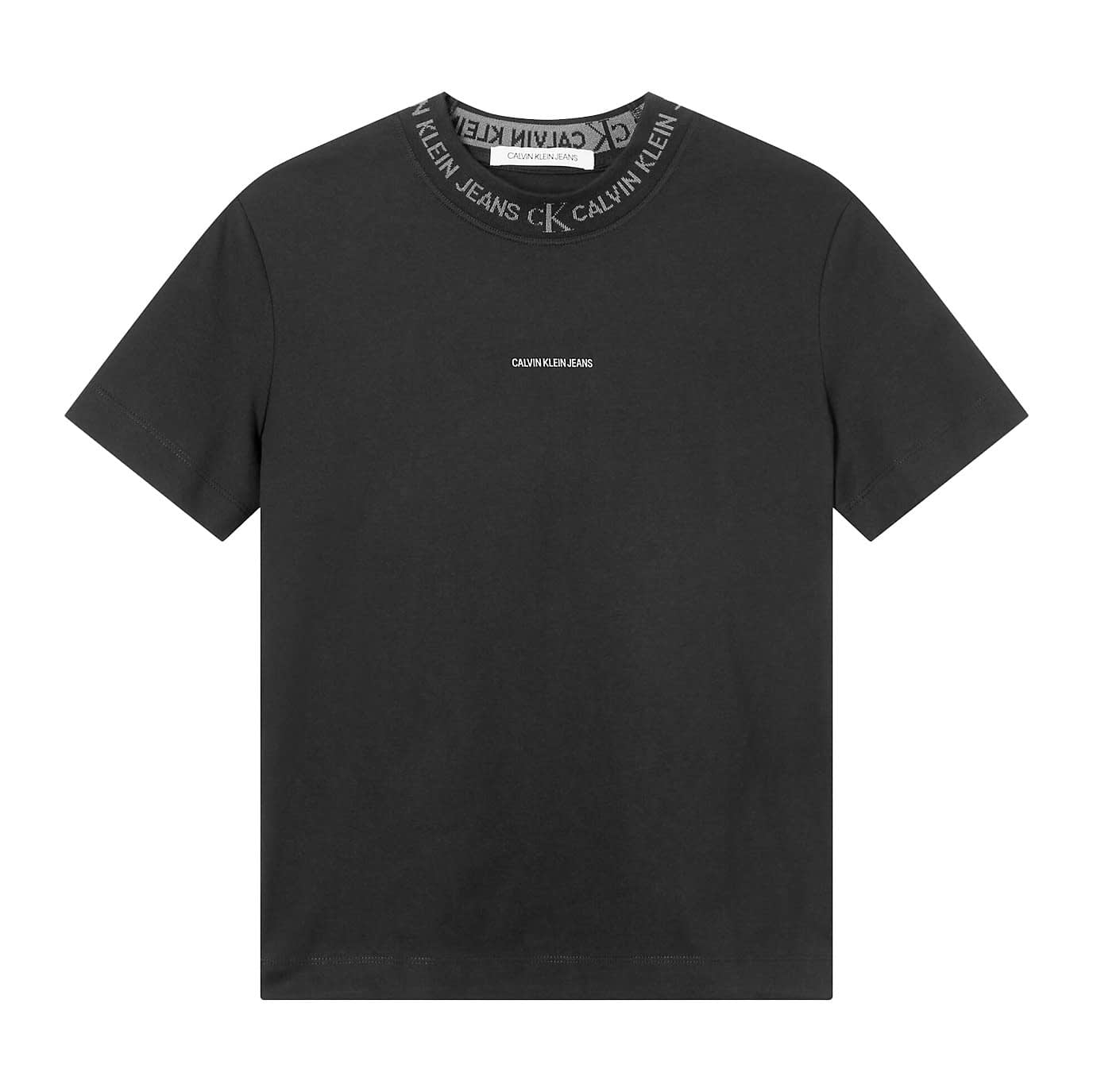 Calvin Klein Logo Intarsia T-Shirt Zwart J20J215500-BEH main