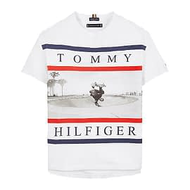 Tommy Hilfiger Photo Print T-Shirt Wit KB0KB06528-YBR front