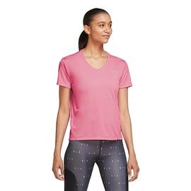 Nike Miler Hardloopshirt Dames Roze AT6756-607 model front main